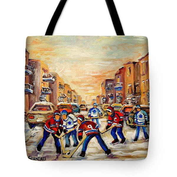 Heat Of The Game Tote Bag by Carole Spandau