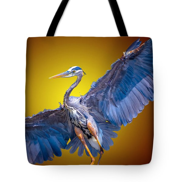 Tote Bag featuring the photograph Heat Wave Heron by Brian Stevens