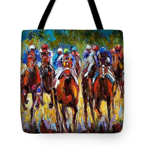 Heated Race Tote Bag by Debra Hurd