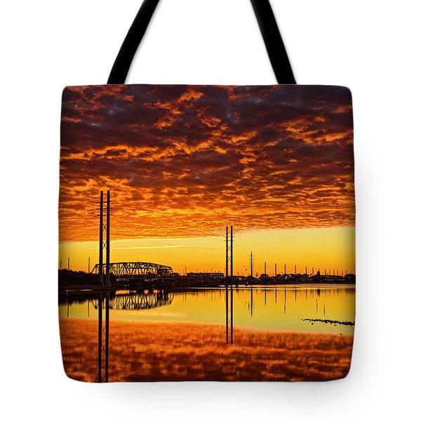Swing Bridge Heat Tote Bag