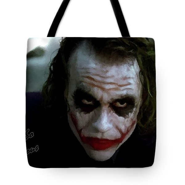Heath Ledger Joker Why So Serious Tote Bag