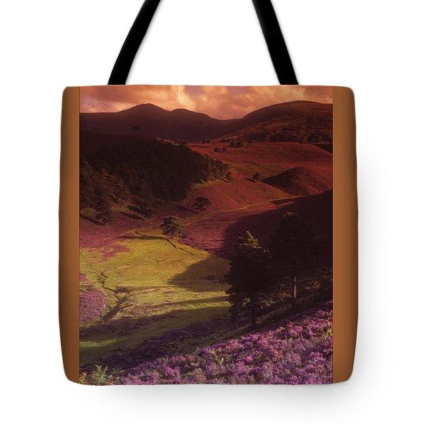 Heather Hills Tote Bag