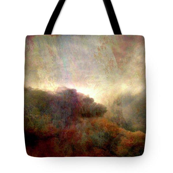 Heaven And Earth - Abstract Art Tote Bag