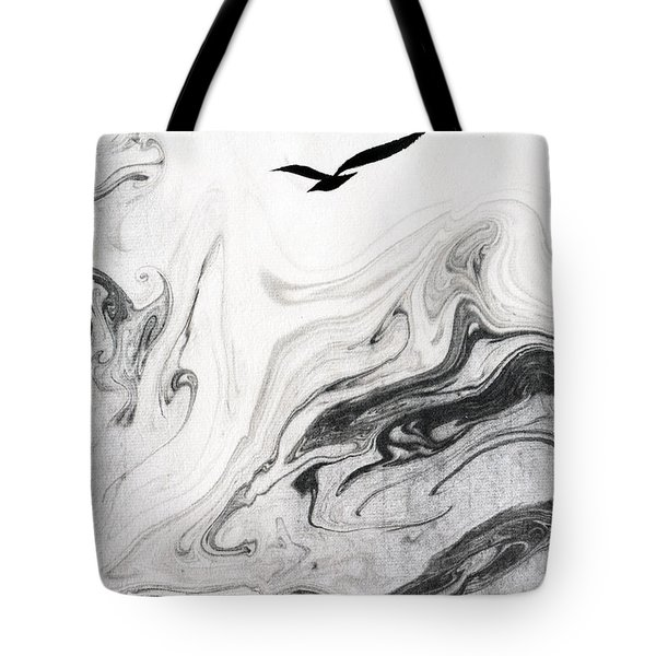Heaven And Earth And One Lone Gull Tote Bag