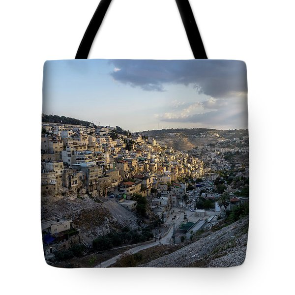 Heaven Shines On The City Of David Tote Bag