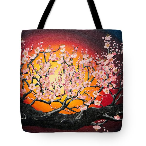Heavenly Blossoms Tote Bag by Olga Smith
