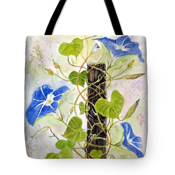 Heavenly Blue Twine Tote Bag