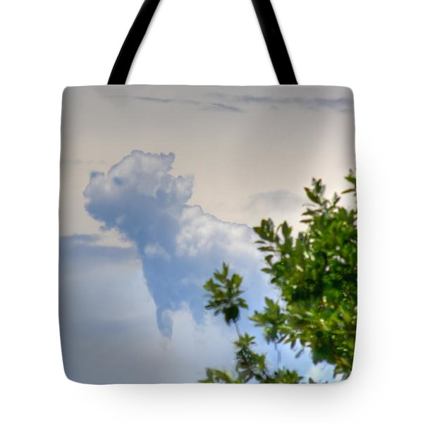 Heavenly Dog In The Clouds Tote Bag