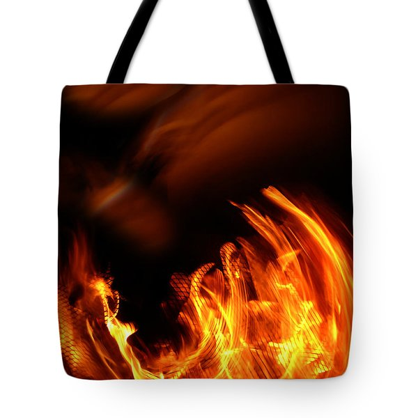 Heavenly Flame Tote Bag by Donna Blackhall