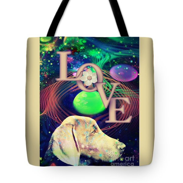 Tote Bag featuring the digital art Heavenly Love by Kathy Tarochione