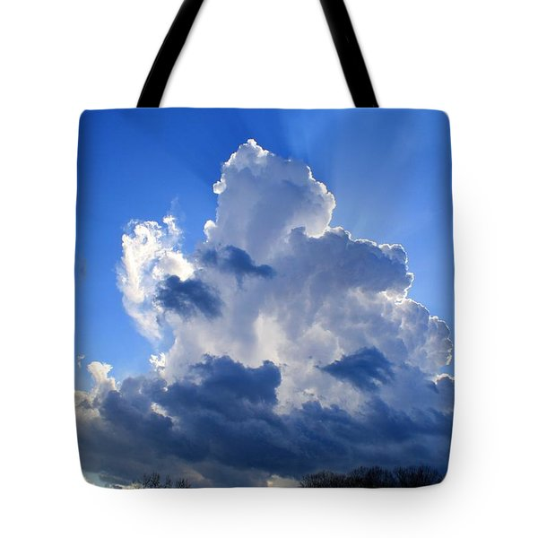 Tote Bag featuring the photograph Heavenly Sunlight by Kathryn Meyer