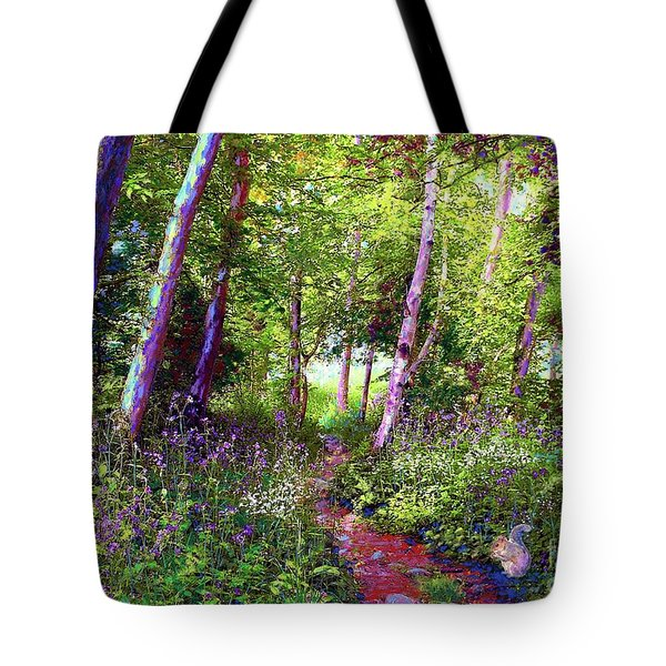 Tote Bag featuring the painting Heavenly Walk Among Birch And Aspen by Jane Small