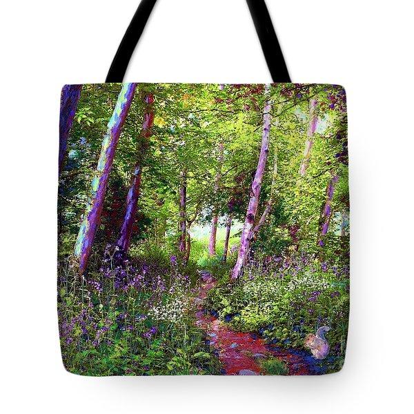 Heavenly Walk Among Birch And Aspen Tote Bag
