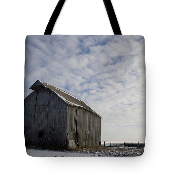 Tote Bag featuring the photograph Heavens Barn Dusting by Dylan Punke