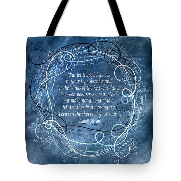 Tote Bag featuring the digital art Heavens Dance by Angelina Vick