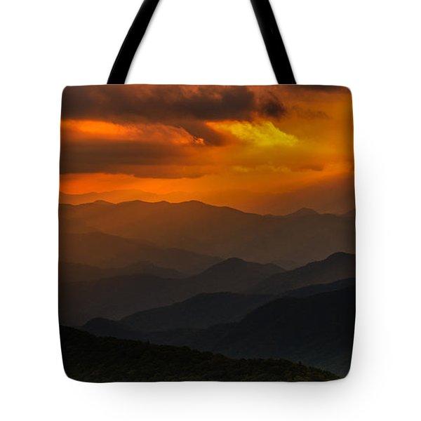 Heaven's Light On The Blue Ridge Parkway Tote Bag