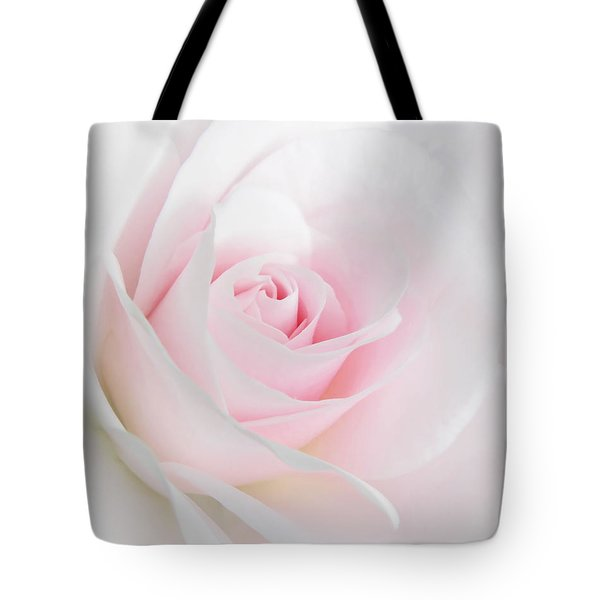 Heaven's Light Pink Rose Flower Tote Bag
