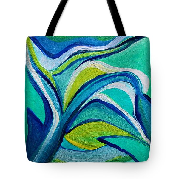 Tote Bag featuring the painting Heavy Bud by Polly Castor