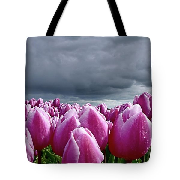 Heavy Clouds Tote Bag by Mihaela Pater
