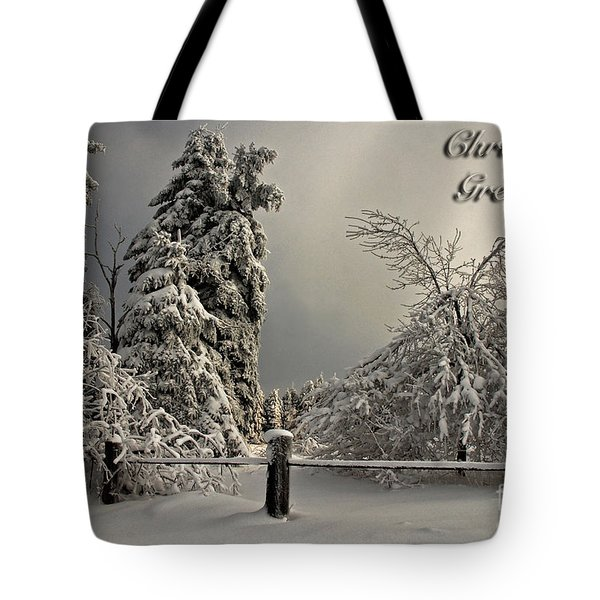 Heavy Laden Christmas Card Tote Bag by Lois Bryan