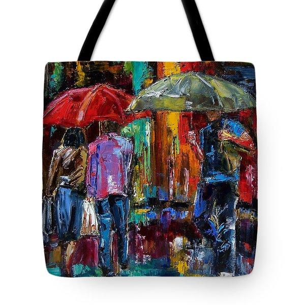 Heavy Rain Tote Bag by Debra Hurd