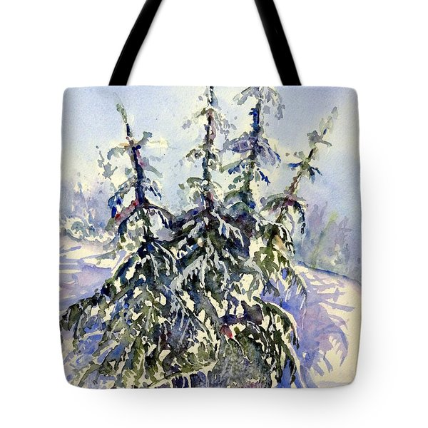 Heavy Snow In The Cascades Tote Bag