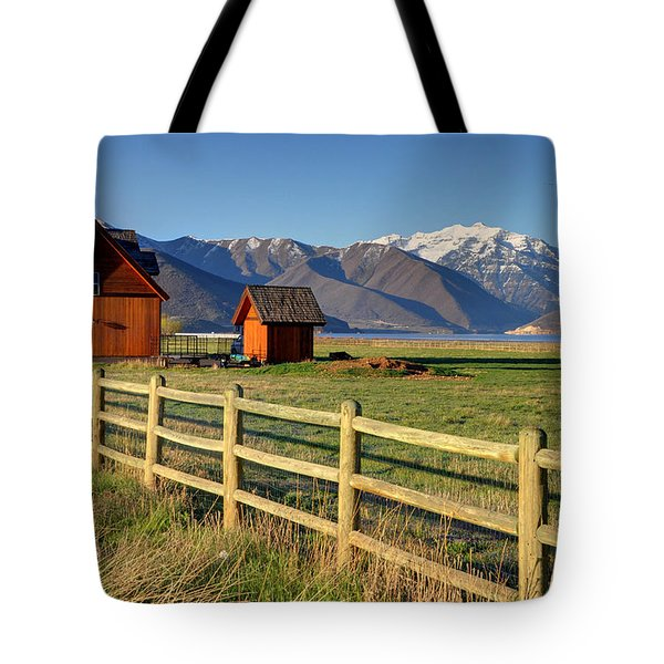 Heber Valley Ranch House - Wasatch Mountains Tote Bag by Gary Whitton