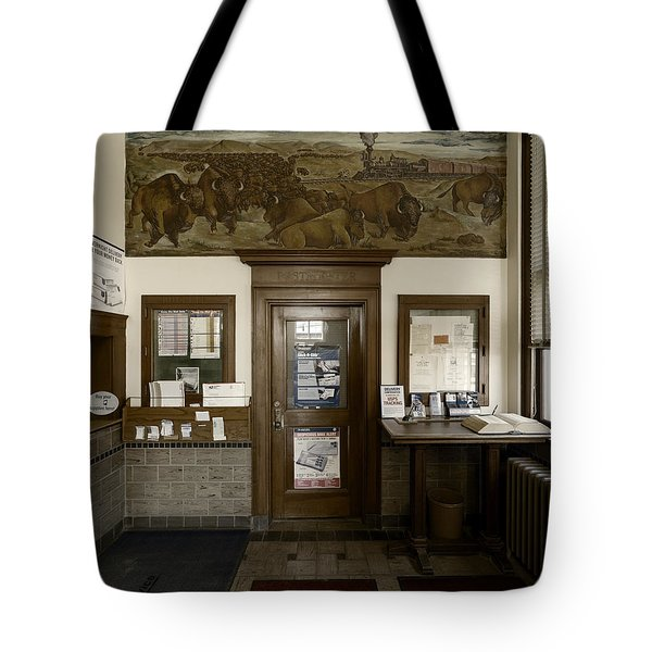 Hebron Nebraska Post Office Mural Tote Bag
