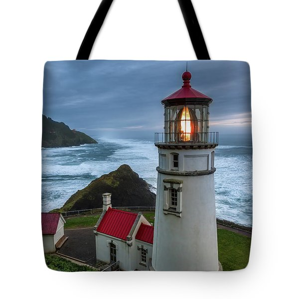 Heceta Head Lighthouse Evening Tote Bag