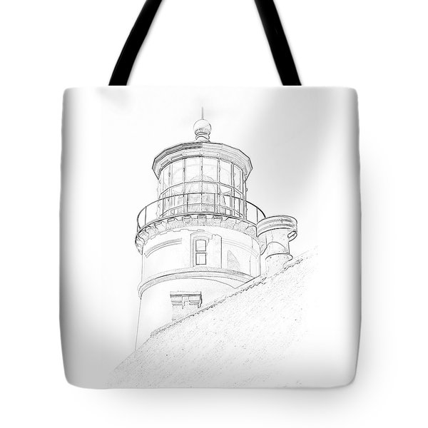 Hecitia Head Lighthouse Sketch Tote Bag
