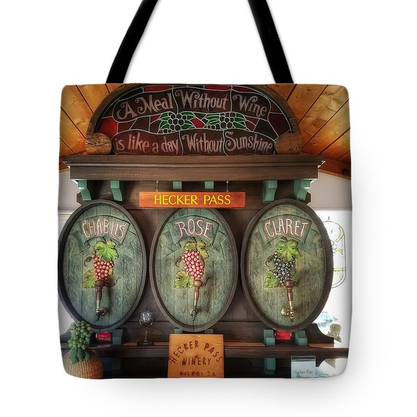 Hecker Pass Winery  Tote Bag