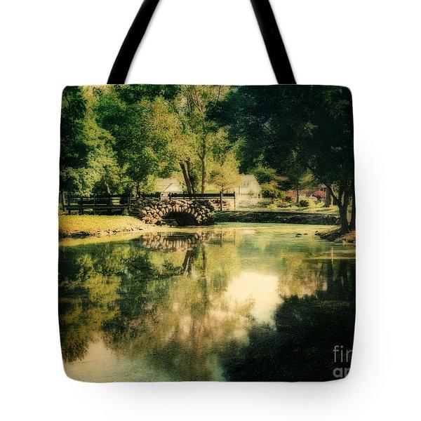 Heckscher Park Pond, Huntington Ny Tote Bag