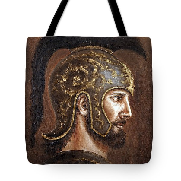 Tote Bag featuring the painting Hector by Arturas Slapsys
