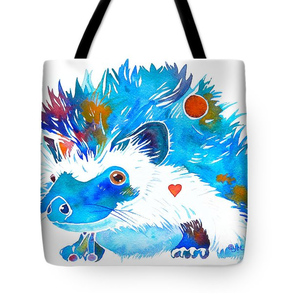 Hedgehog With Heart Tote Bag