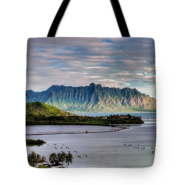 He'eia Fish Pond And Kualoa Tote Bag