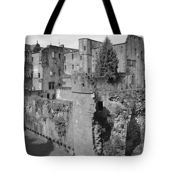 Tote Bag featuring the photograph Heidelberg Castle Behind The Scenes by Corinne Rhode