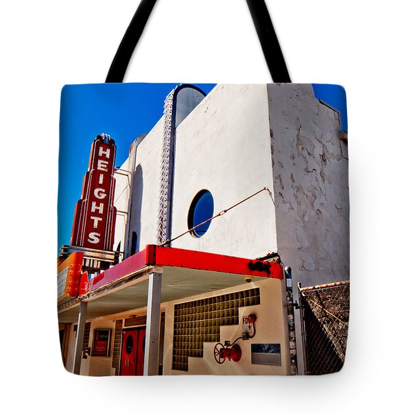 Heights Movie Theater Tote Bag