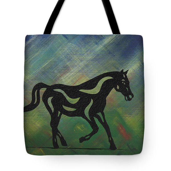 Heinrich - Abstract Horse Tote Bag