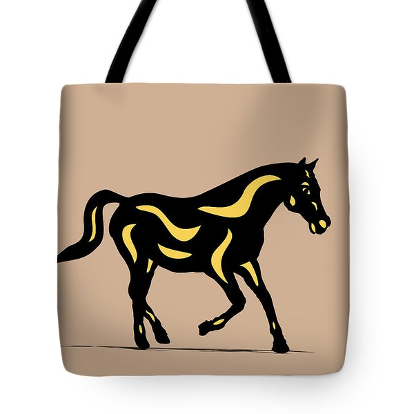 Heinrich - Pop Art Horse - Black, Primrose Yellow, Hazelnut Tote Bag