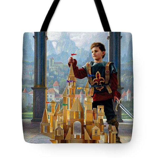 Tote Bag featuring the painting Heir To The Kingdom by Greg Olsen