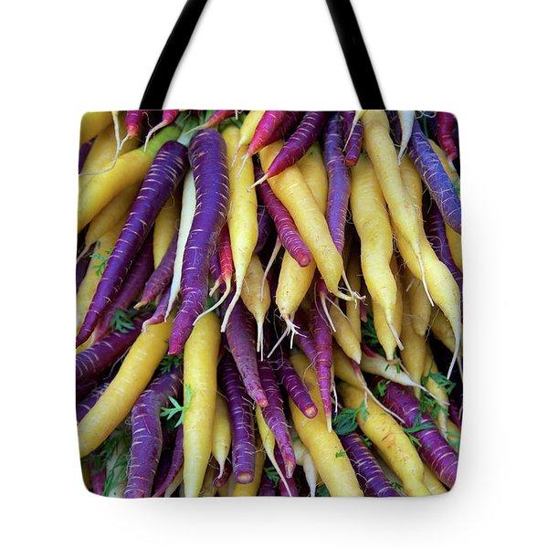 Heirloom Rainbow Carrots Tote Bag