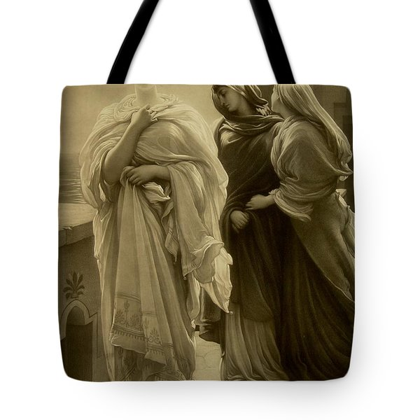 Helen Of Troy Tote Bag by Frederic Leighton