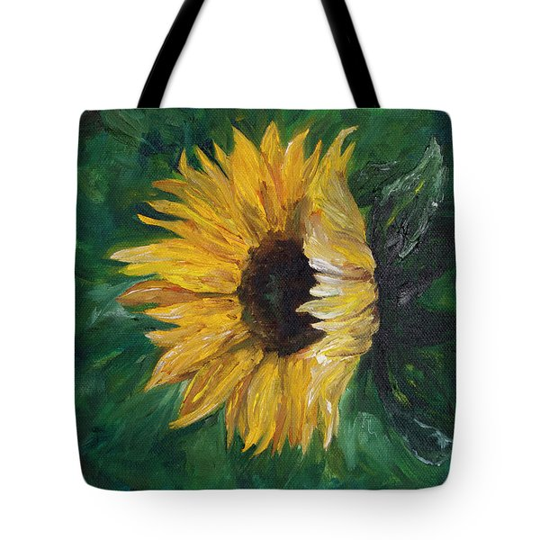 Tote Bag featuring the painting Helianthus by Melinda Cummings