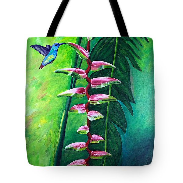 Heliconia Flower And Friend Tote Bag