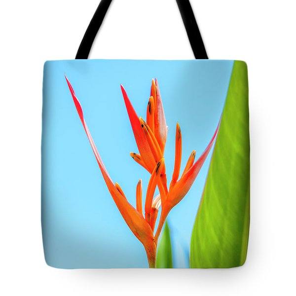 Heliconia Flower Tote Bag