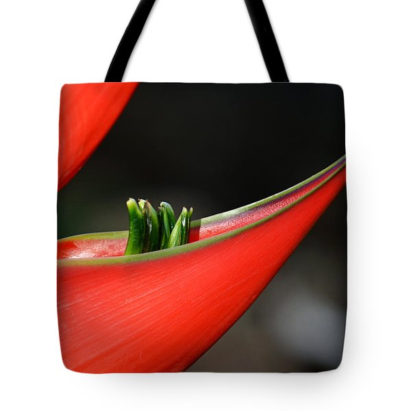 Heliconia Flower Petal Tote Bag