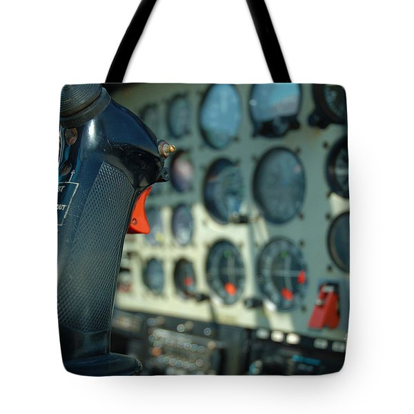 Helicopter Cockpit Tote Bag