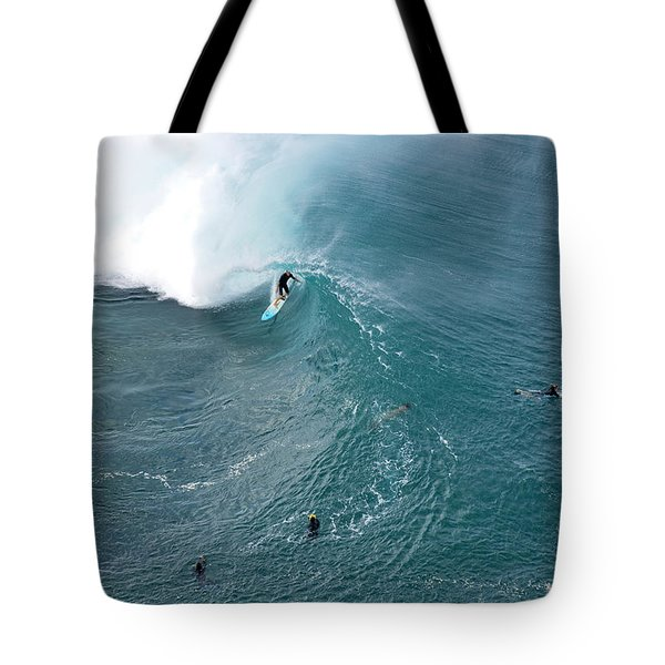 Tubed From Above. Tote Bag