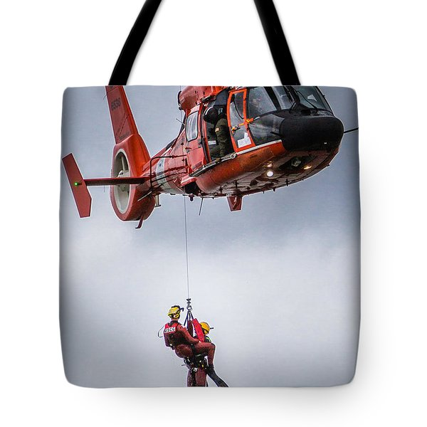 Tote Bag featuring the photograph Helicopter Rescue by Gregory Daley  PPSA