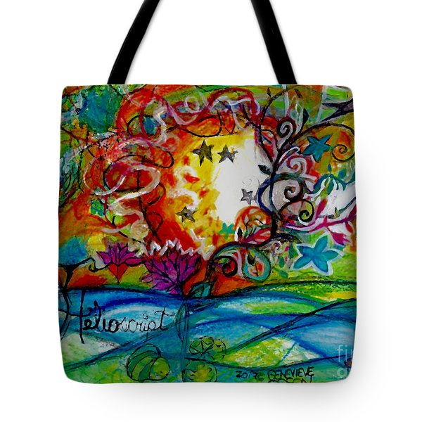 Tote Bag featuring the painting Helios And Ophelia  by Genevieve Esson